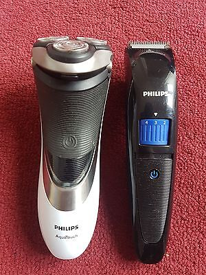 Philips AquaTouch AT941 Electric Shaver & Philips Trimmer