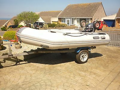 Tohatsu 3.1m inflateable dinghy, Yamaha 8hp 4stroke outboard and trailer package