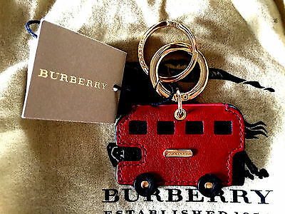 Burberry Horseferry London  Bus Key Charm In Parade Red / Key Ring / Porte-Cles