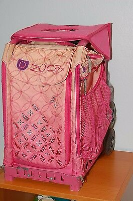 ZUCA Bag Pink with Pink Frame with Seat Cushion