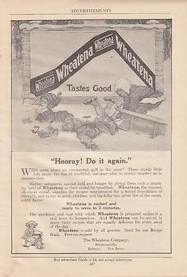 1920 The Wheatena Co Rahway NJ Ad: Wheatena the Roasted All-Wheat Cereal