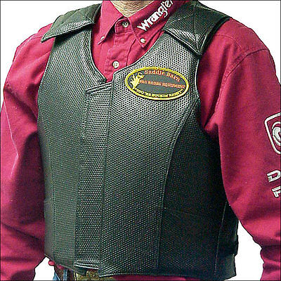 Large Saddle Barn Equipment Rough Stock Pro Rodeo Protective Vest Gear