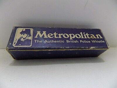 Metropolitan Authentic British Police Bobby Whistle Made in England FREE SHIP