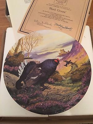 Bradford Exchange Collector Plate  The Black Grouse With Box + Certificate