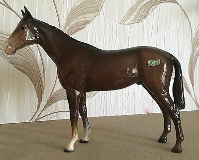 BESWICK HORSE BOIS ROUSSEL RACEHORSE MODEL No. 701  BROWN GLOSS FINISH