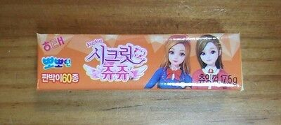 Haitai Secret JuJu Apricot Color Chewing Gum Made in Korea