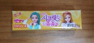 Haitai Secret JuJu Yellow Color Chewing Gum Made in Korea