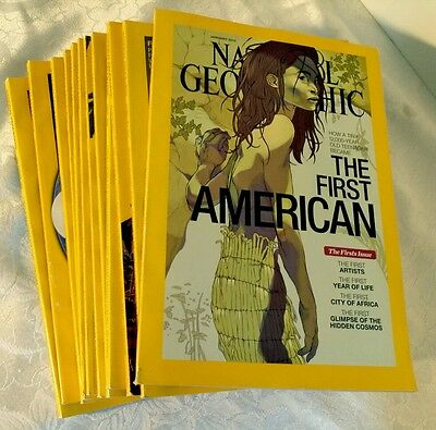 2015 NATIONAL GEOGRAPHIC MAGAZINE LOT OF 12 ISSUES - very good condition