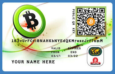Bitcoins (0,02 BTC)  Direct To Your Wallet + Plastic Wallet Card Personal