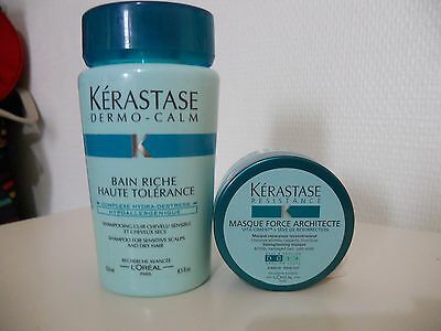 Lot KERASTASé Dermo Calm  Shampooing 250ml+ masque force architecte 75ml neuf