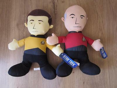 Star Trek Plush Spock Khan Klingon Data Picard Lot of 5 Figures Toy Factory NWT