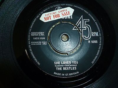 "Beatles She Loves You - I'll Get You 7"" 1963 Parlophone Factory Sample"