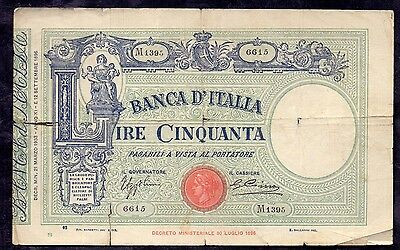50 Lire From Italy 21.3.1933