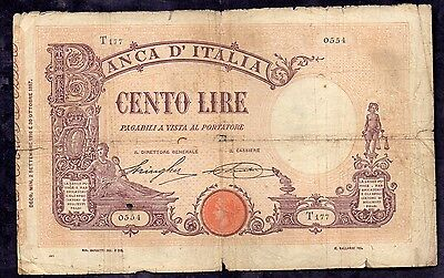 100 Lire From Italy 2.9.1916