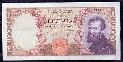 10000 Lire From Italy 1964 Michelangelo