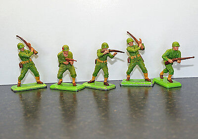 Britains Deetail American Toy Soldiers x 5