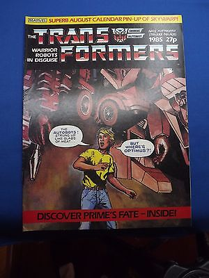 Marvel The Transformers UK Fortnightly Comic #23 27th July-9th Aug 1985