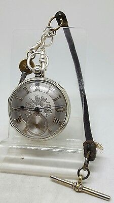 Antique solid silver gents fusee Caleb. Reeves pocket watch 1870 working order