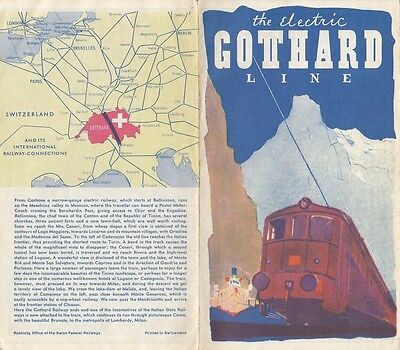 The Electric St Gotthard Switzerland Line Vintage Brochure Swiss Federal Railway