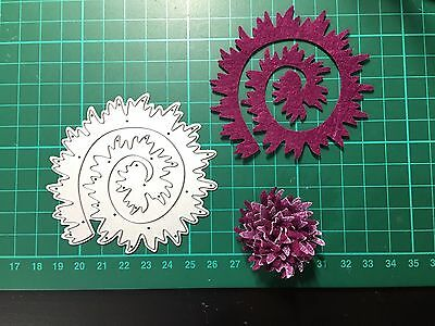 D025 Flower Quilling Rolled Cutting Die for Sizzix Spellbinders Etc. Machine