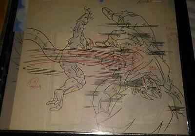 Douga Anime Cel Production Cellulo Sketch Dragon Ball DBZ