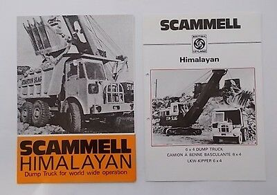 SCAMMELL HIMALAYAN Sales & Technical Brochures.    2 ITEMS.