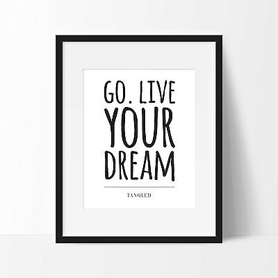 Disney Tangled Print. Disney Movie Quote Poster. Typography Print. FREE DELIVERY