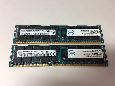 Server Memory Dell / Hynix 32Gb (2X16Gb) 2Rx4 Pc3L-10600R Ddr3 Ecc Registered