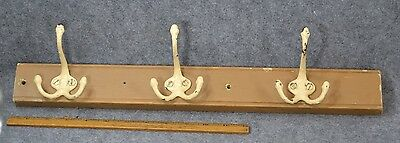 coat hat hooks rack cast iron painted shabby antique vintage