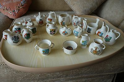 Collection Of  Goss Vintage Crested China - 20 items  with SHIRE 120 ALBUM.