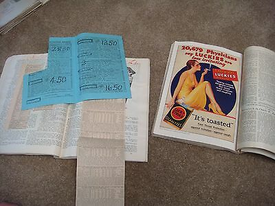 Vintage magazines / scrapbooks with horse race clippings from the early 1930s
