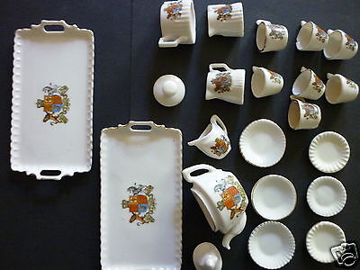 Dolls Coronation Tea Service Gemma Crested Ware 22 Pieces From Two Or More Sets