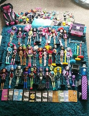 Huge Monster High bundle 33x dolls, accessories,Rare boys