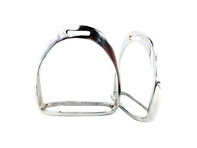 Replacement Pair English Horse Silver Saddle Adult Size Stirrups Irons Set Tack