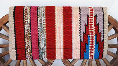 34x36 WESTERN BARREL RODEO CUTTER SHOW RANCH WOOL NAVAJO TRAIL HORSE SADDLE PAD