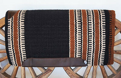 """34"""" x 36"""" THERAPEUTIC 100% WOOL WESTERN TRAIL SADDLE PAD HORSE SHOCK CUTTER SHOW"""