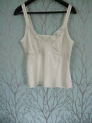 Silky Look Ivory M & S Camisole Size 18