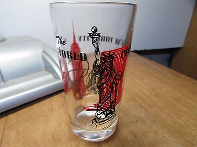 Vintage New York City Statue Of Liberty Etc Souvenir Glass Tumbler