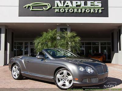 2012 Bentley Continental GT GTC Convertible 2012 Bentley Continental GT GTC Convertible Automatic 2-Door Convertible