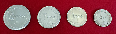 ***Complete Set of 4 Iran Persian Iranian Current Mint Condition Coins***