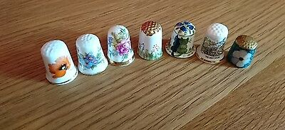 Small collection of thimbles, bone china,  pottery, brass,  enamel.
