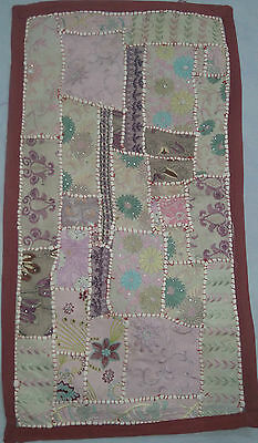 Vintage Throw Patchwork Wall Hanging Embroidery Tapestry Table Runner