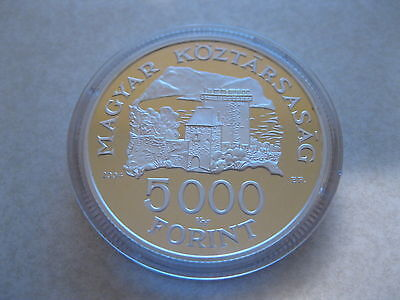 2004 Hungary 5000 Forint Silver Coin *VISEGRADI VAR* w/ case Mint Condition