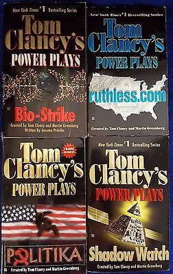 Lot of 4 Tom Clancy Power Plays Books   (E5-2)