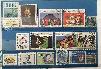 Mixed Lot of Equador Stamps