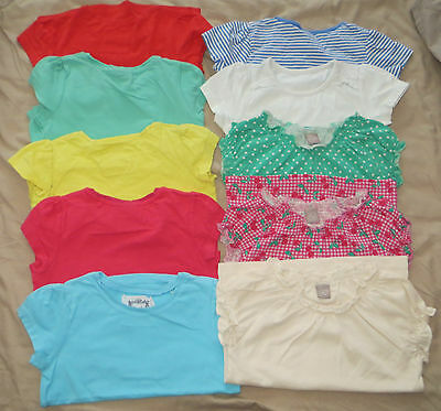 18-24 Girls Bundle 10 T-shirts Tops Summer TU Next Mothercare Cherry Spot Stripy