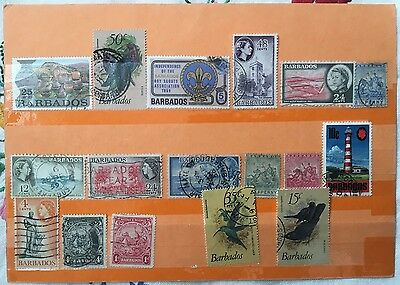 Mixed Lot of Stamps from Barbados