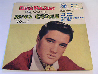 ELVIS PRESLEY King Creole Vol. 1   RCA 1960 UK Rock & Roll P/S 7""