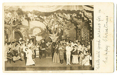 "Antique 1903 postcard ""The Chinese Honeymoon"" stage show"