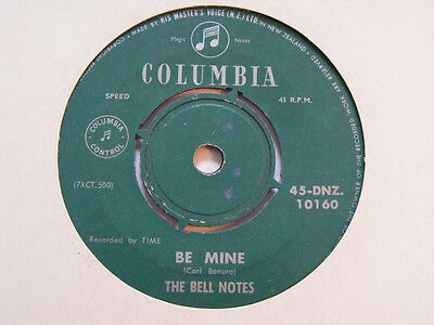 THE BELL NOTES Be Mine   Columbia 1960s New Zealand Rock & Roll 7""